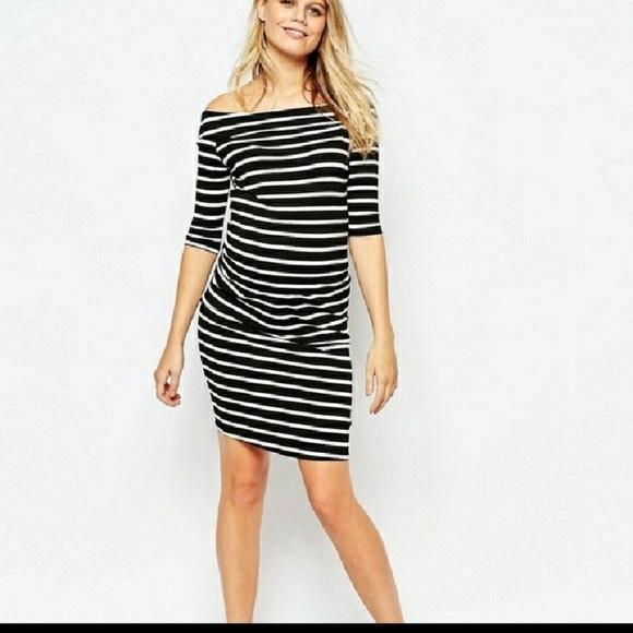 979b516937c9 ASOS Maternity Off The Shoulder Bardot Dress. M_5b11f00704e33d92e2b362d9